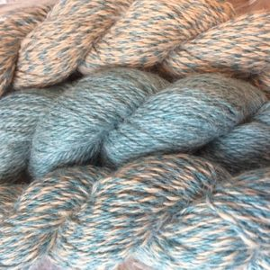 Yarn: Barber Pole Teal & Fawn