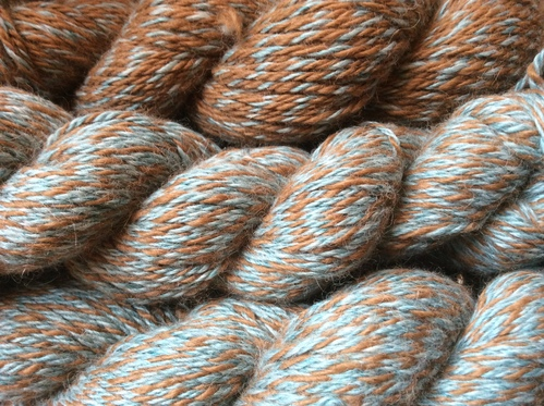 Yarn: Barber Pole Teal & Brown