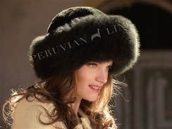 Alpaca Fur Hat: Dark