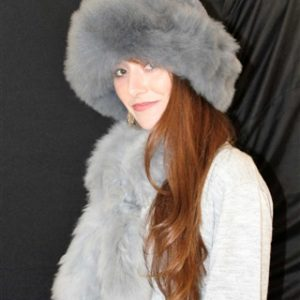 Fur Hat and Scarf Set