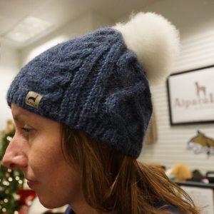 Alpaca Pom Knit Hat